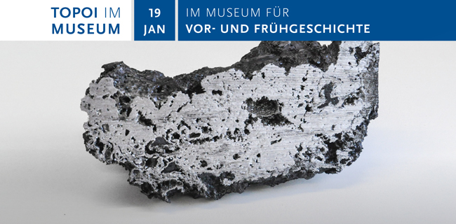 "Flyer of the event series ""Topoi im Museum"""